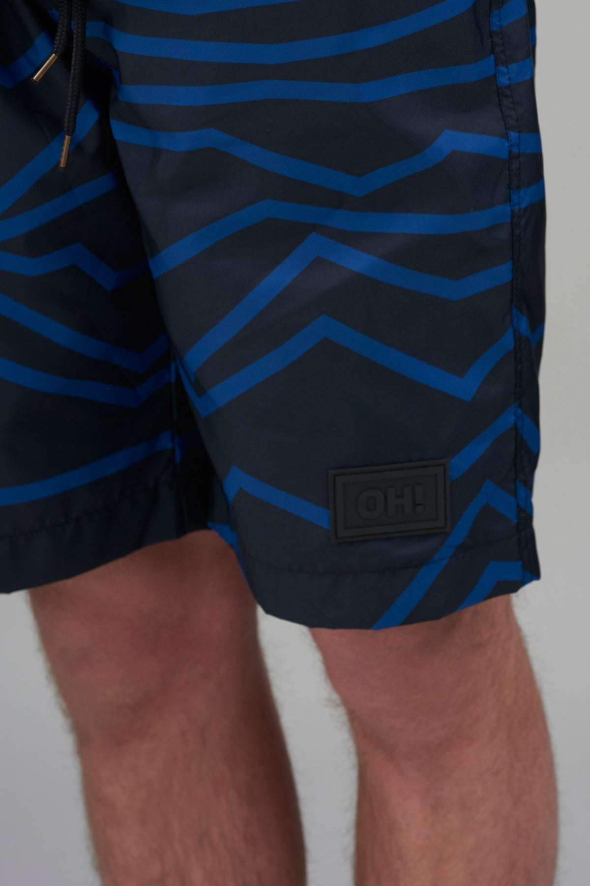 Low Countries Shorts Blue, 100% PES / Silicon OH! patch / 55g/m2 / Low Countries all-over print / Fabric from Belgium / Made in Portugal