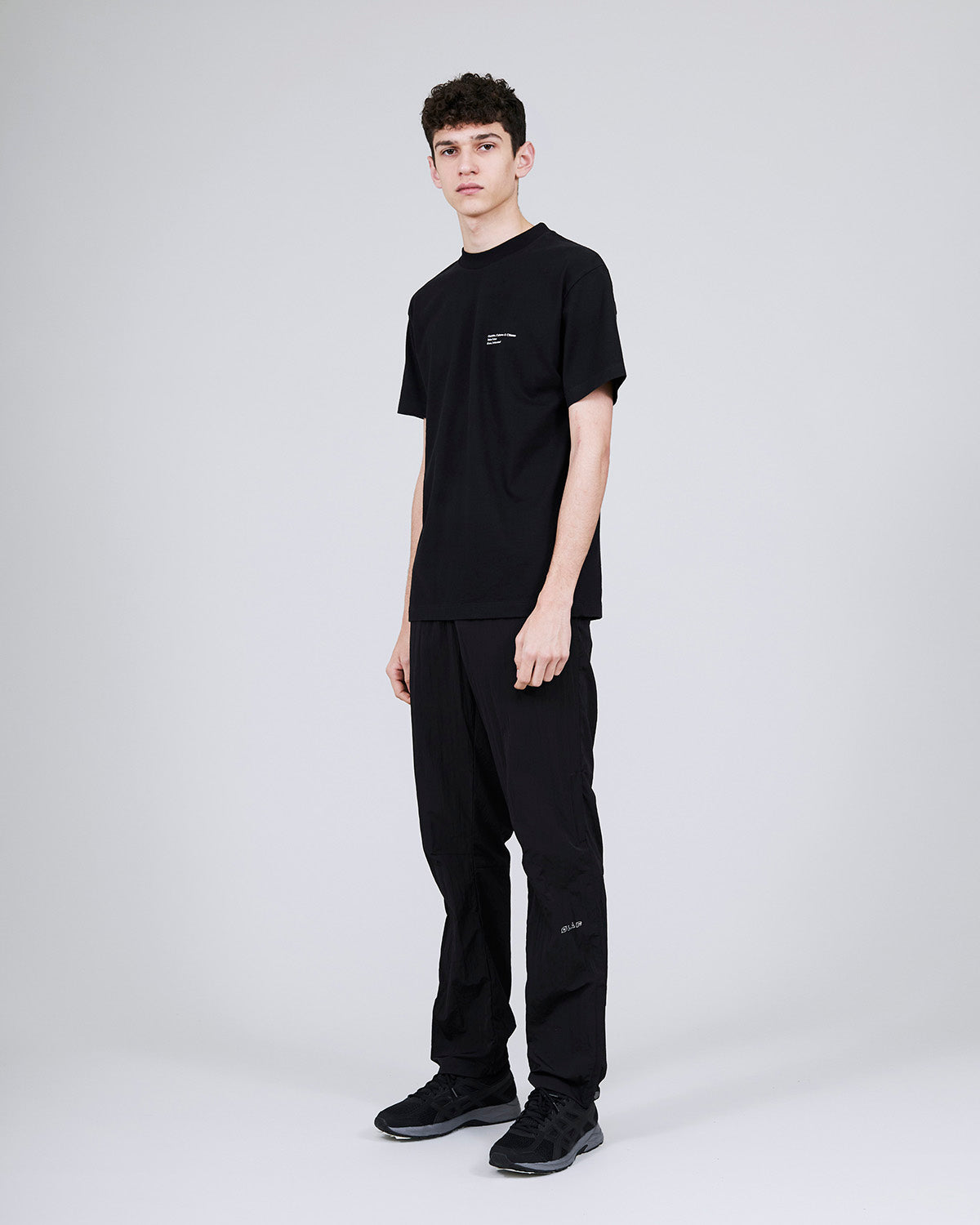 ØLÅF x Halal T - Tobias Faisst Black, Portuguese fabric, 100% cotton (220 grams/sqm), Post wash, Fine ribbed collar, Made in Portugal
