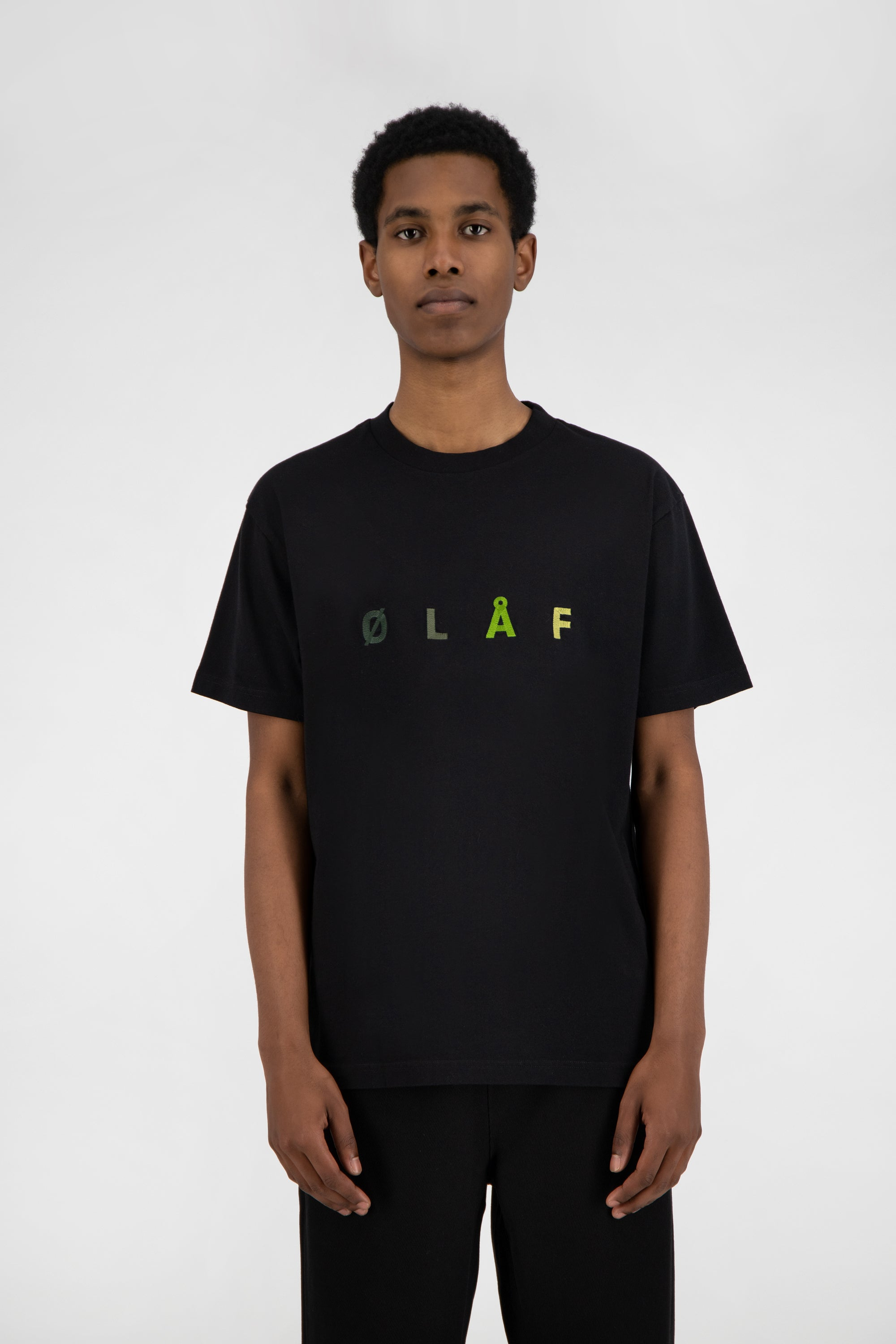 ØLÅF Chainstitch Tee <br>Black