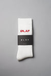 ØLÅF Socks White / Red, 75% cotton, 23% polyamide, 2% elastane, Logo on ankle, Made in Portugal