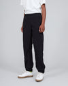Nylon Track Pants <br>Black