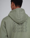 Seminomadic Hoodie Army Green, Portugese fabric, 100% Cotton (320 grams/sqm), Front pocket, Logo on the front and back, Made in Portugal