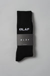 ØLÅF Socks Black, 75% cotton, 23% polyamide, 2% elastane, Logo on ankle , One size fits all