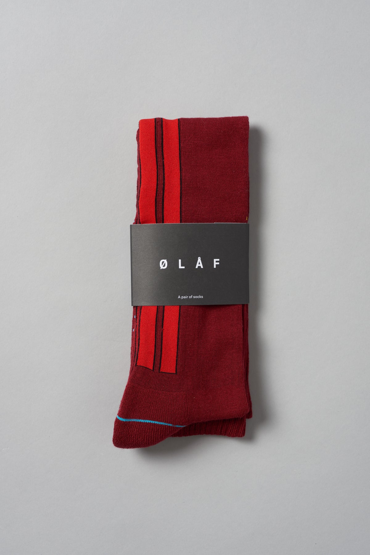 ØLÅF Ski Socks <br>Maroon / Red
