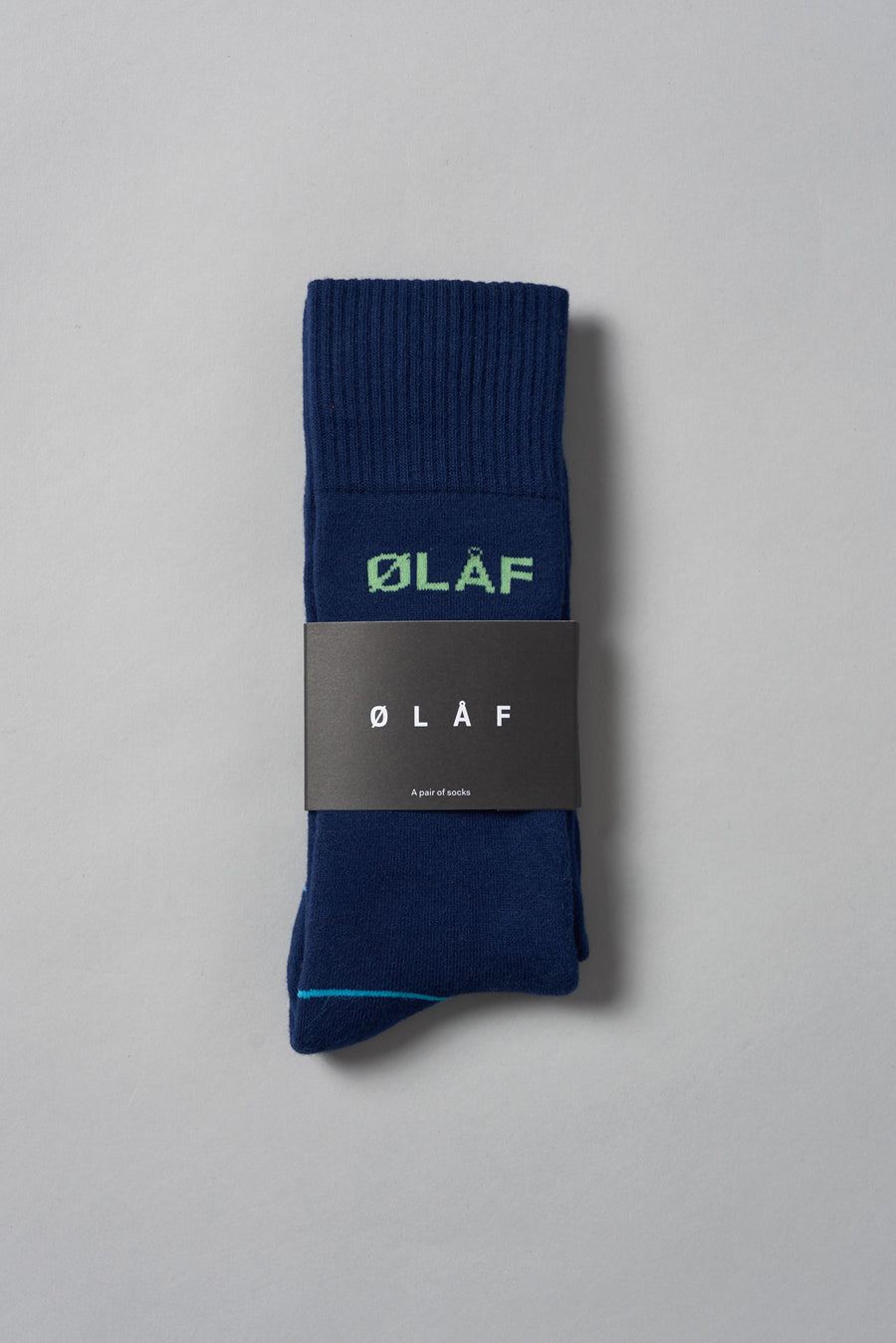 ØLÅF Socks <br>Navy / Green