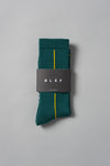 ØLÅF Stripe Socks <br>Dark Green / Grey / Yellow
