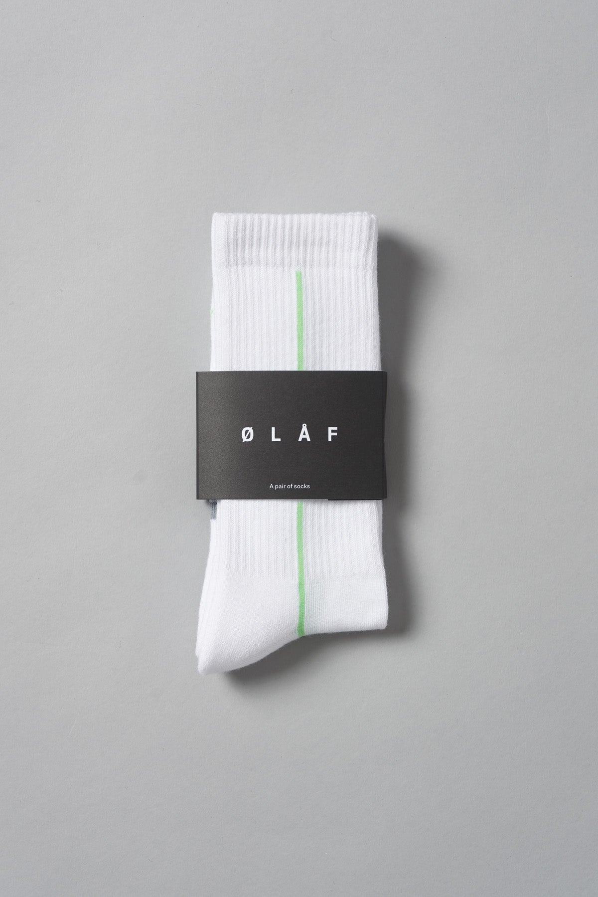 ØLÅF Stripe Socks <br>White / Green / Grey