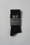 ØLÅF Triple Socks <br>Black / Green