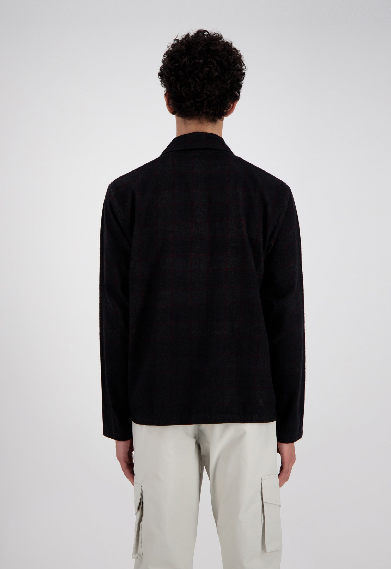 ØLÅF Overdye Check Shirt <br>Black