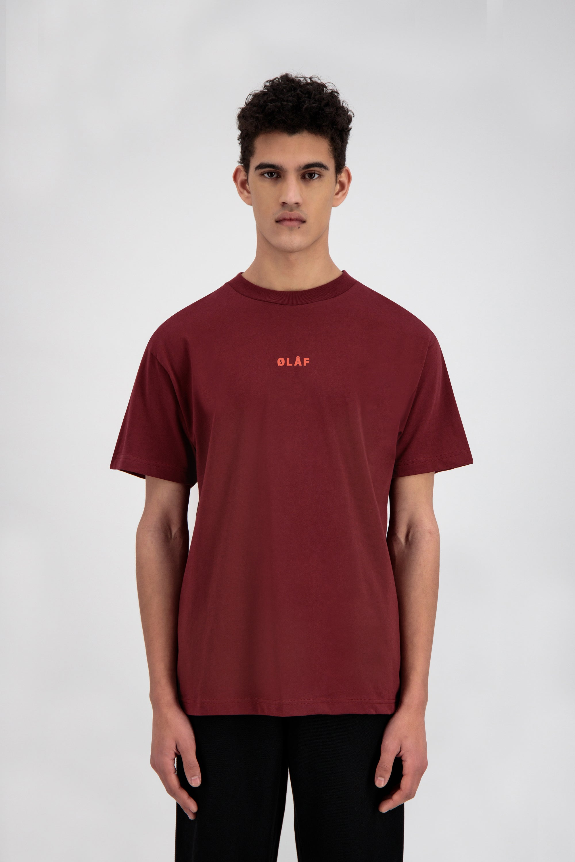 ØLÅF Block Tee <br>Brick Red