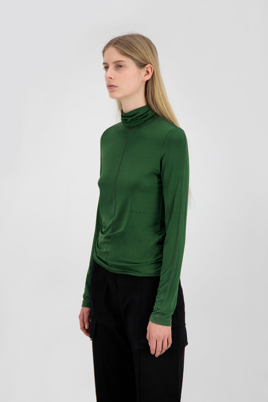 ØLÅF Sporty Turtle Neck <br>Forest Green