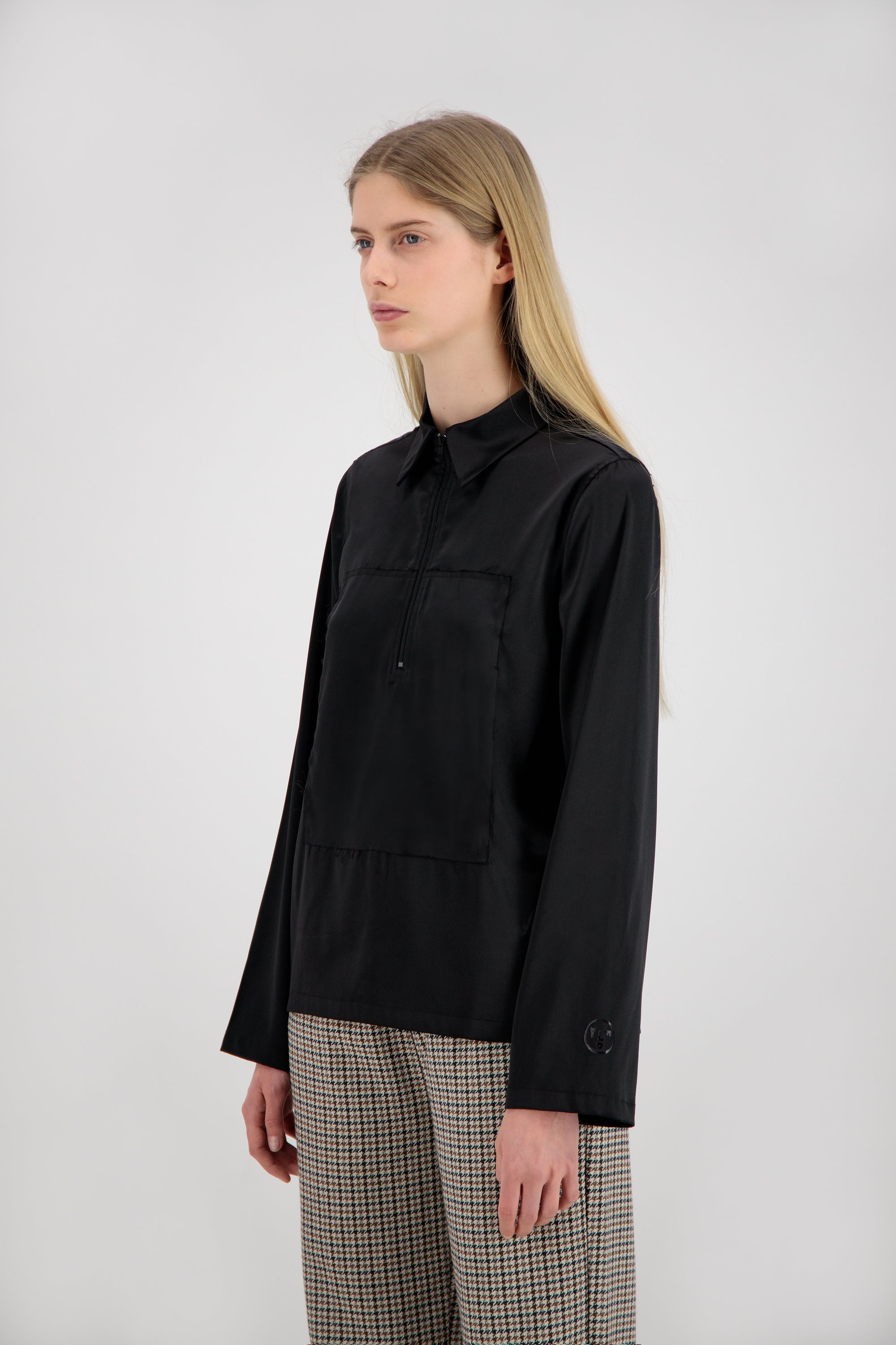 ØLÅF Women's Zip Shirt <br>Black
