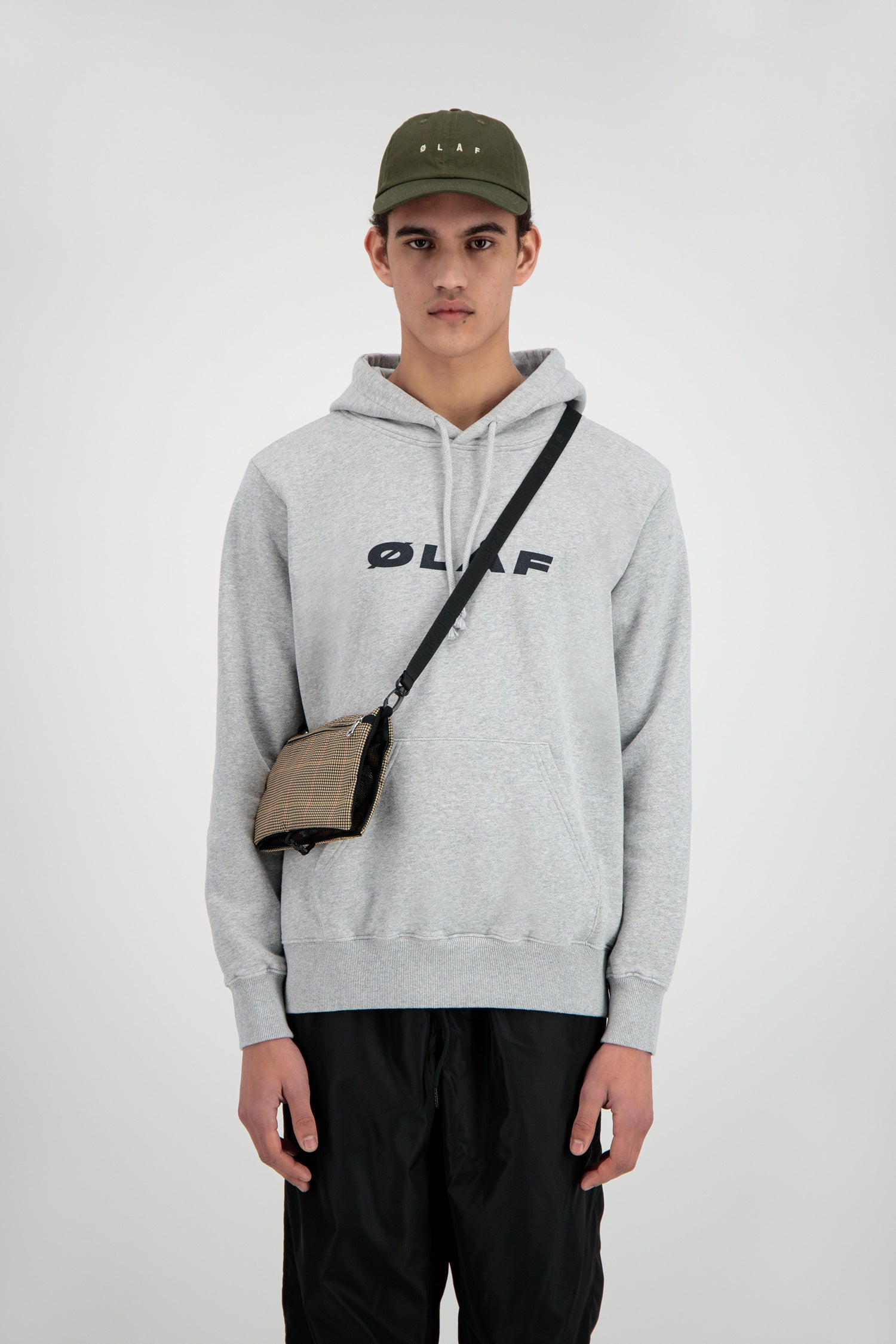 ØLÅF Italic Hoodie <br>Heather Grey