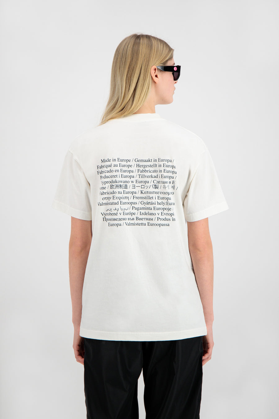 ØLÅF Washing Label Tee <br>White
