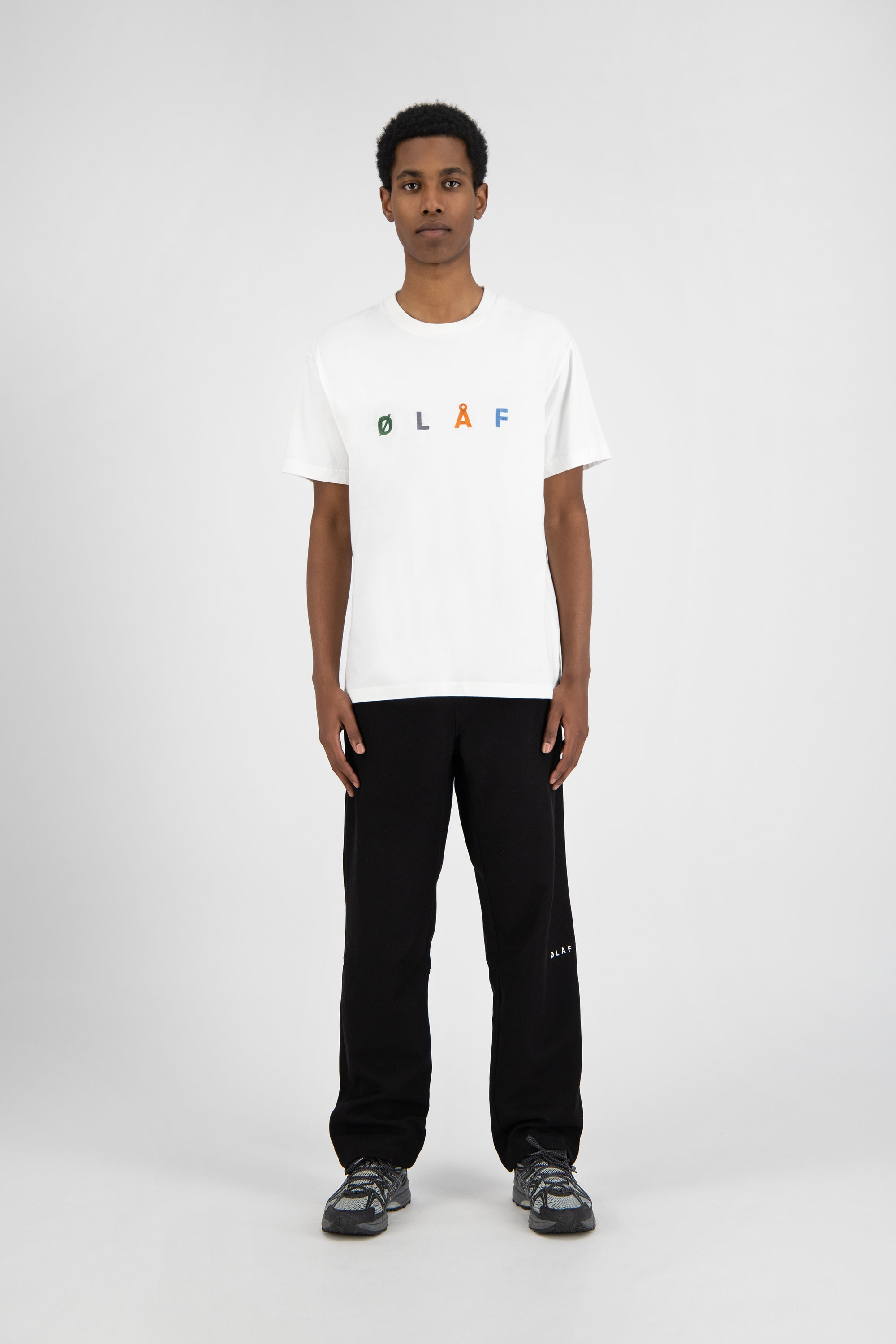 ØLÅF Chainstitch Tee <br>White