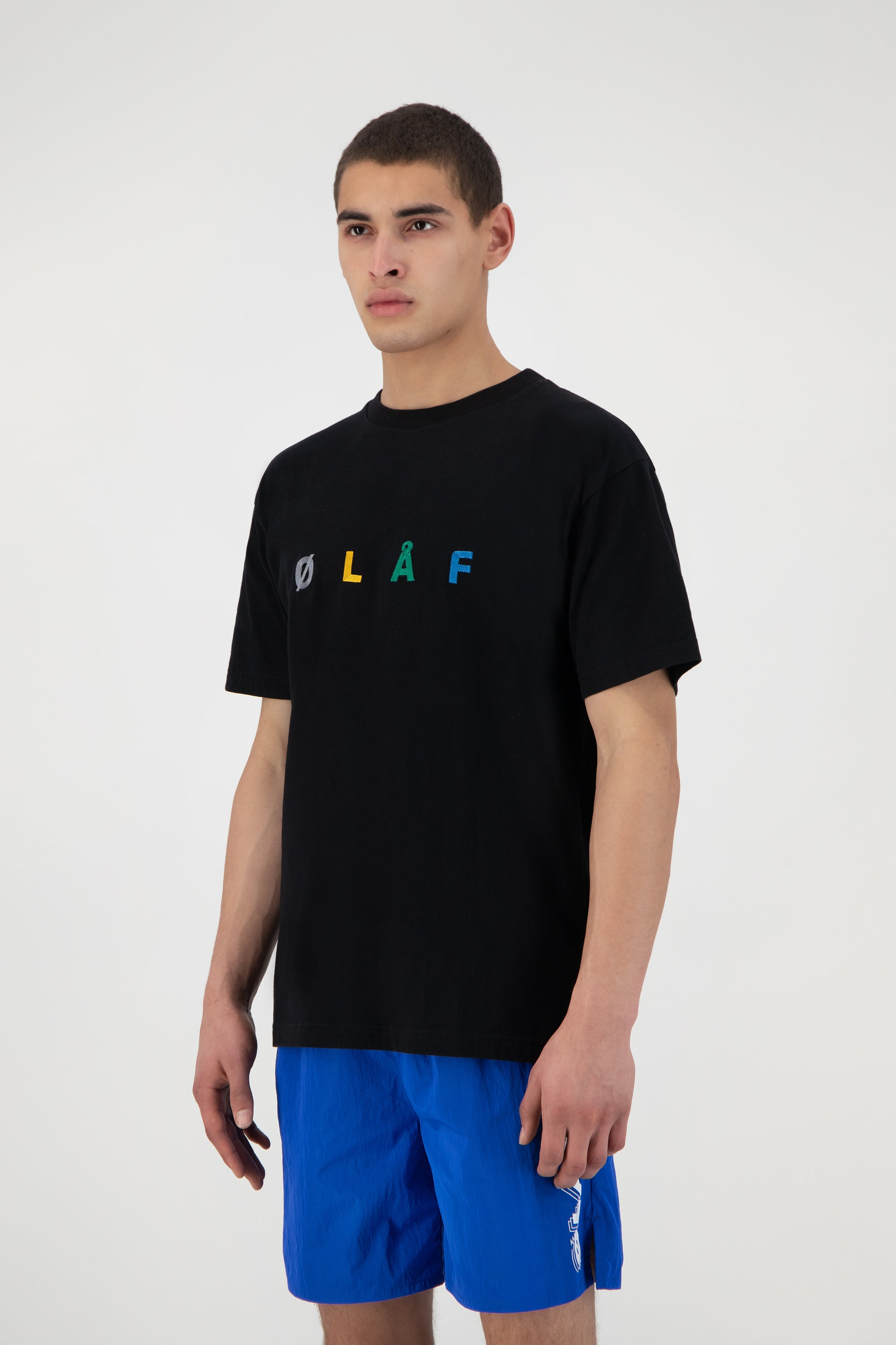 ØLÅF Chainstitch Tee - Black