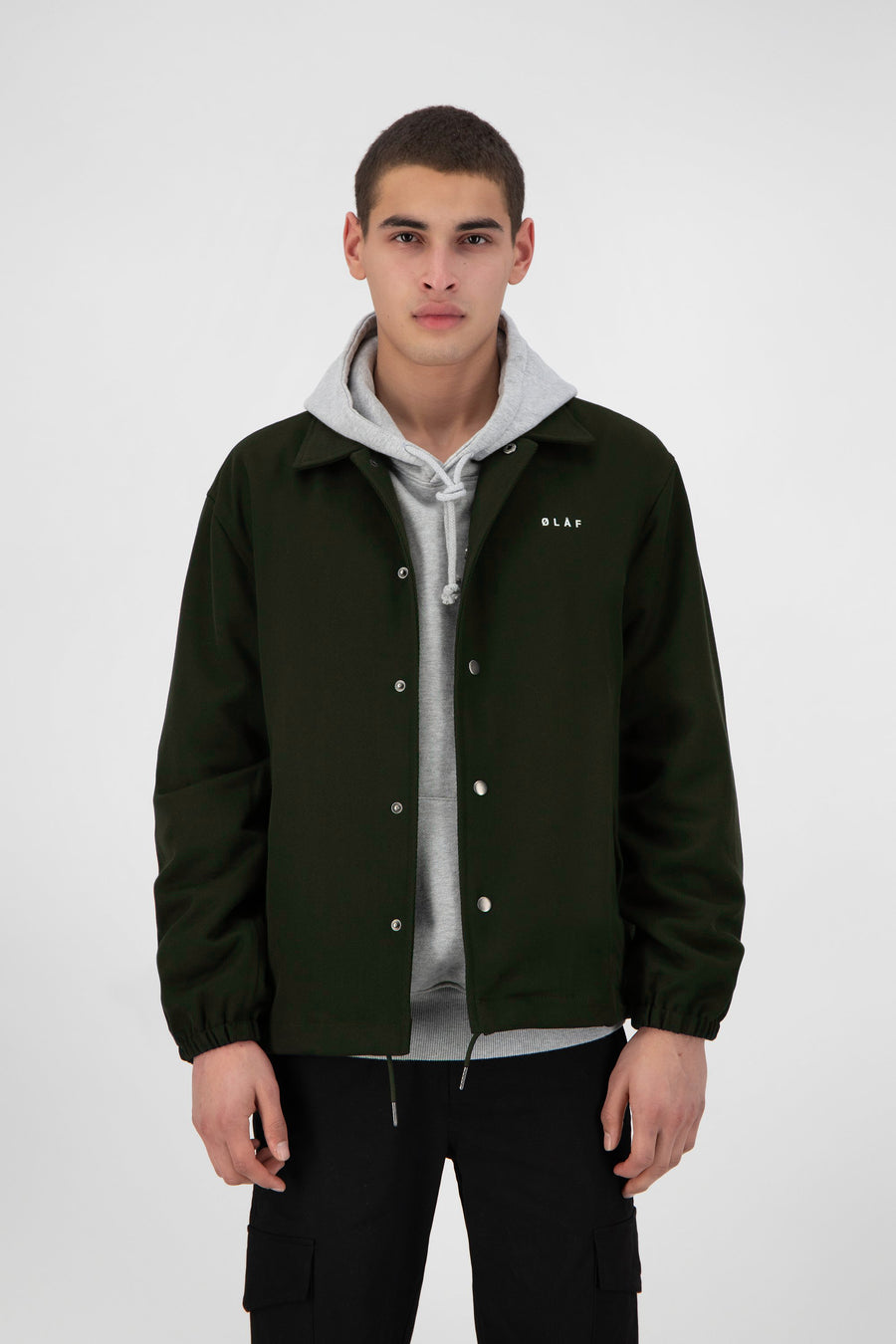 ØLÅF Coach Jacket - Dark Green