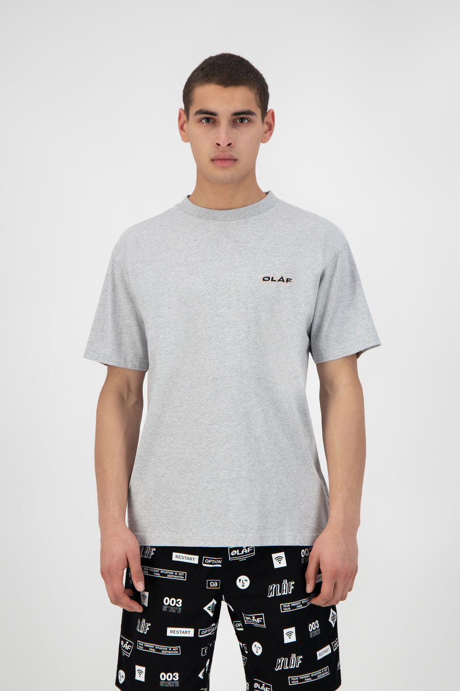 ØLÅF Uniform Tee - Heather Grey