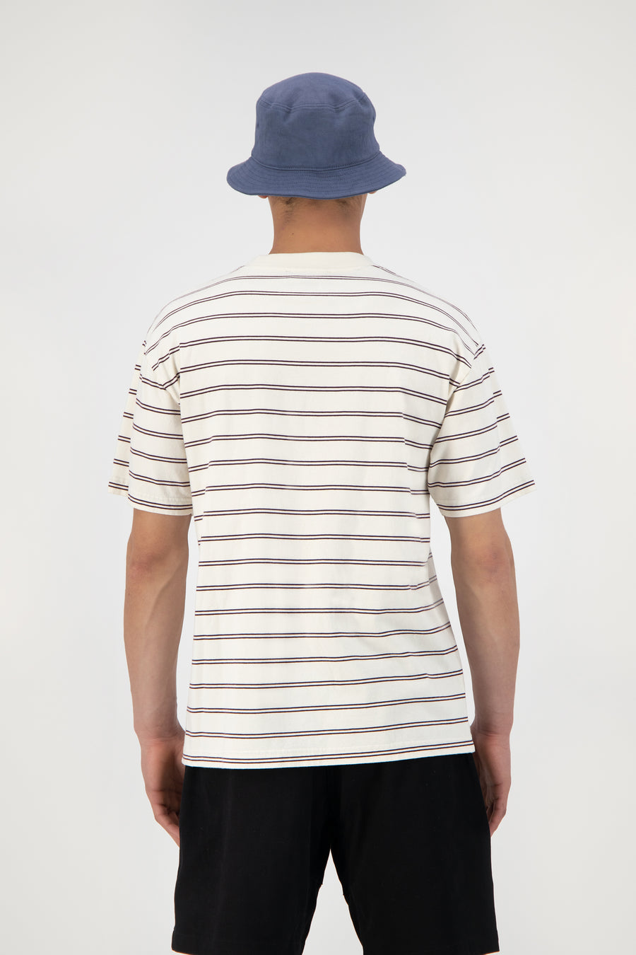 ØLÅF Mini Stripe Tee <br>White / Bordeaux