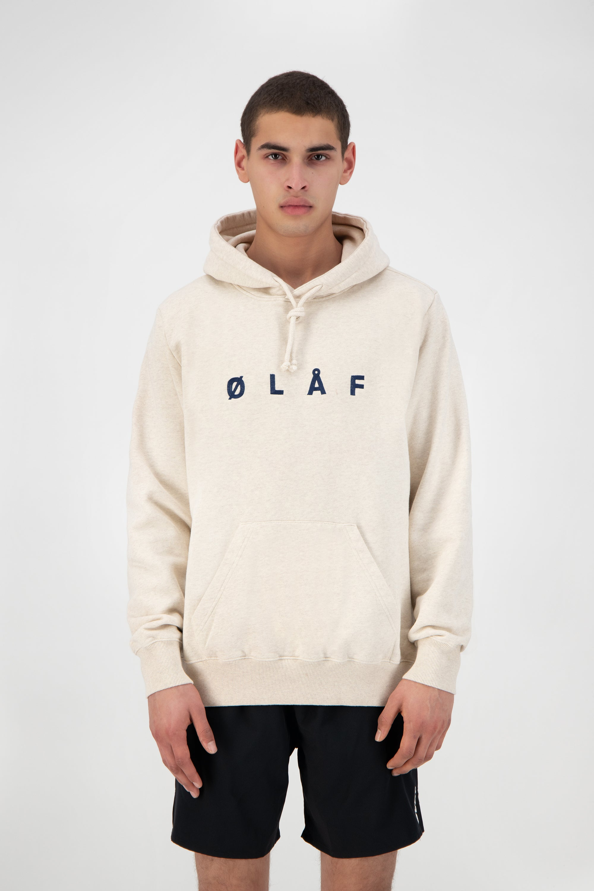ØLÅF Chainstitch Hoodie <br>Ecru Heather