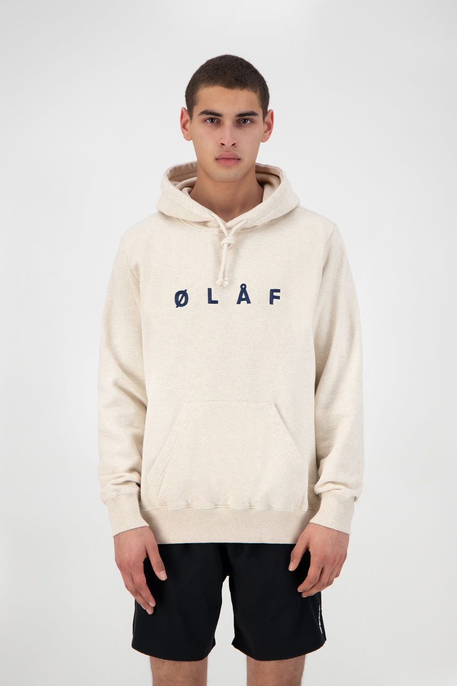ØLÅF Chainstitch Hoodie - Ecru Heather