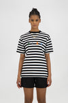 ØLÅF Stripe Sans Tee - Optical White / Black