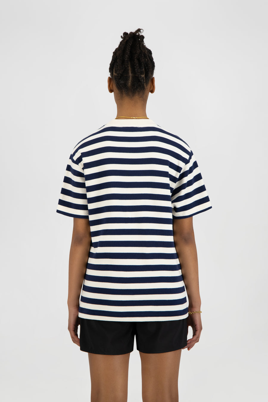 ØLÅF Stripe Sans Tee - White / Blue