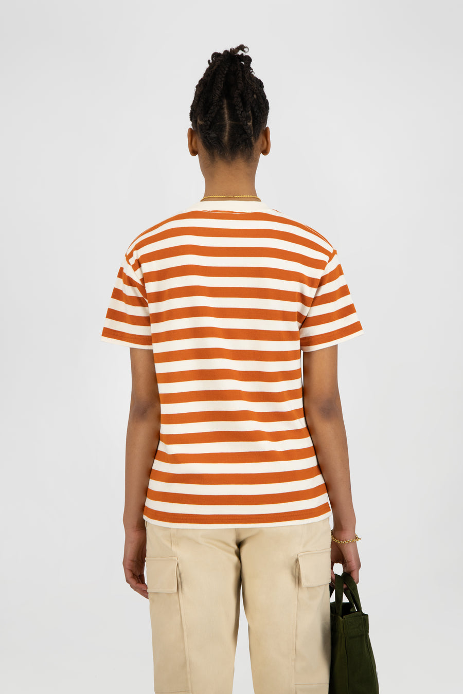 ØLÅF Stripe Sans Tee - White / Orange
