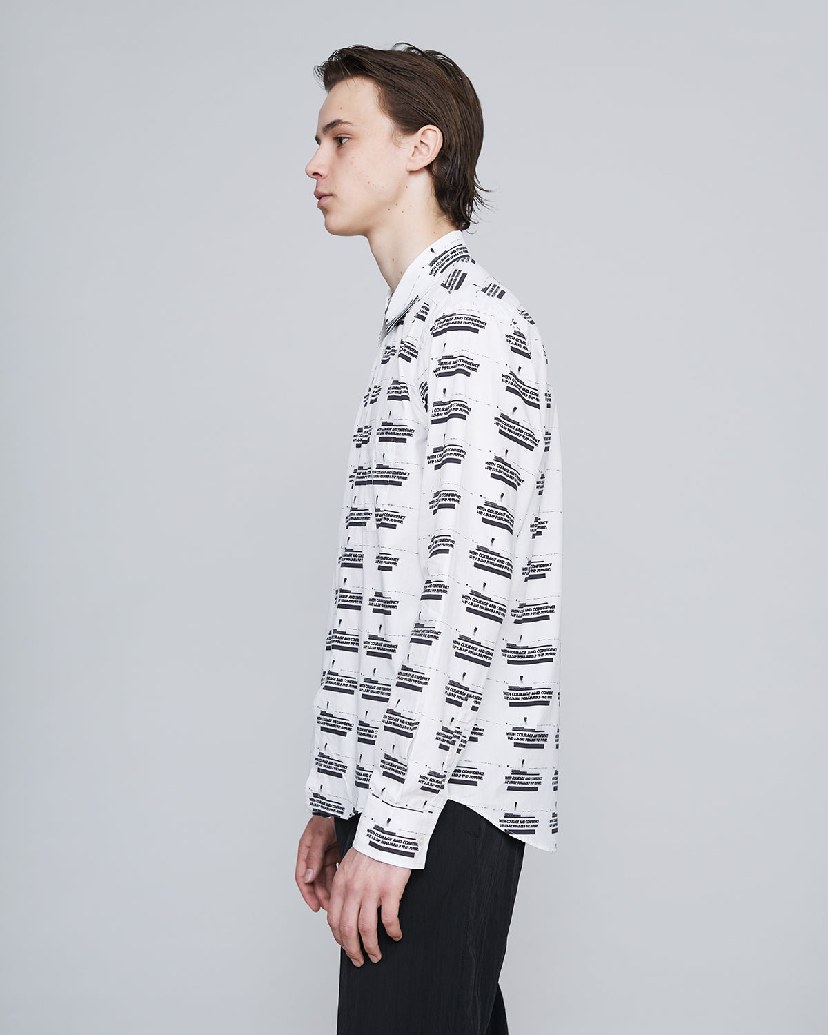 ØLÅF X Matter Shirt All Over Print<br>White/Black