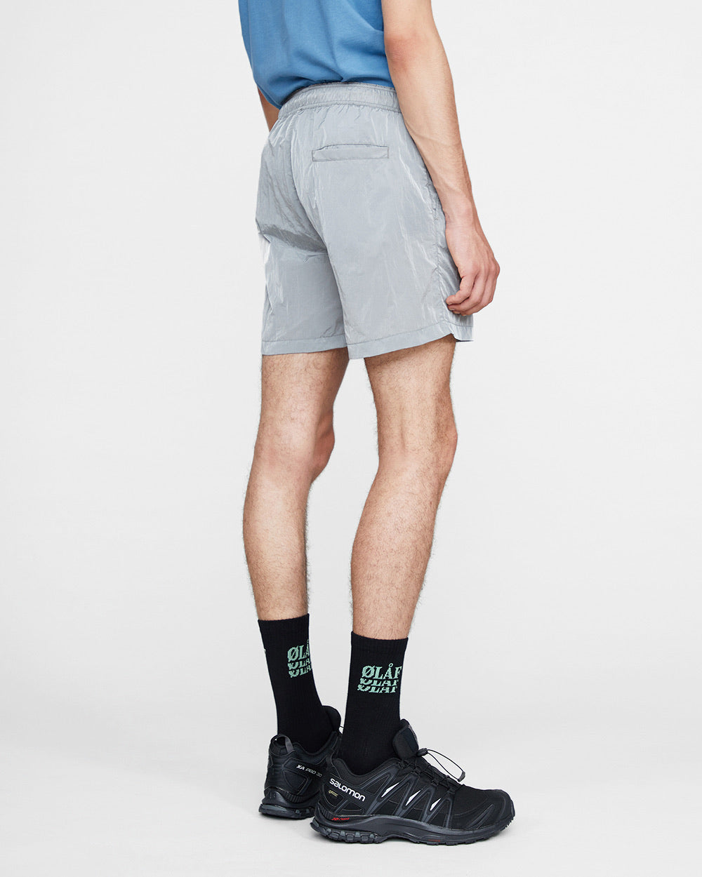 ØLÅF Nylon Shorts <br>Grey