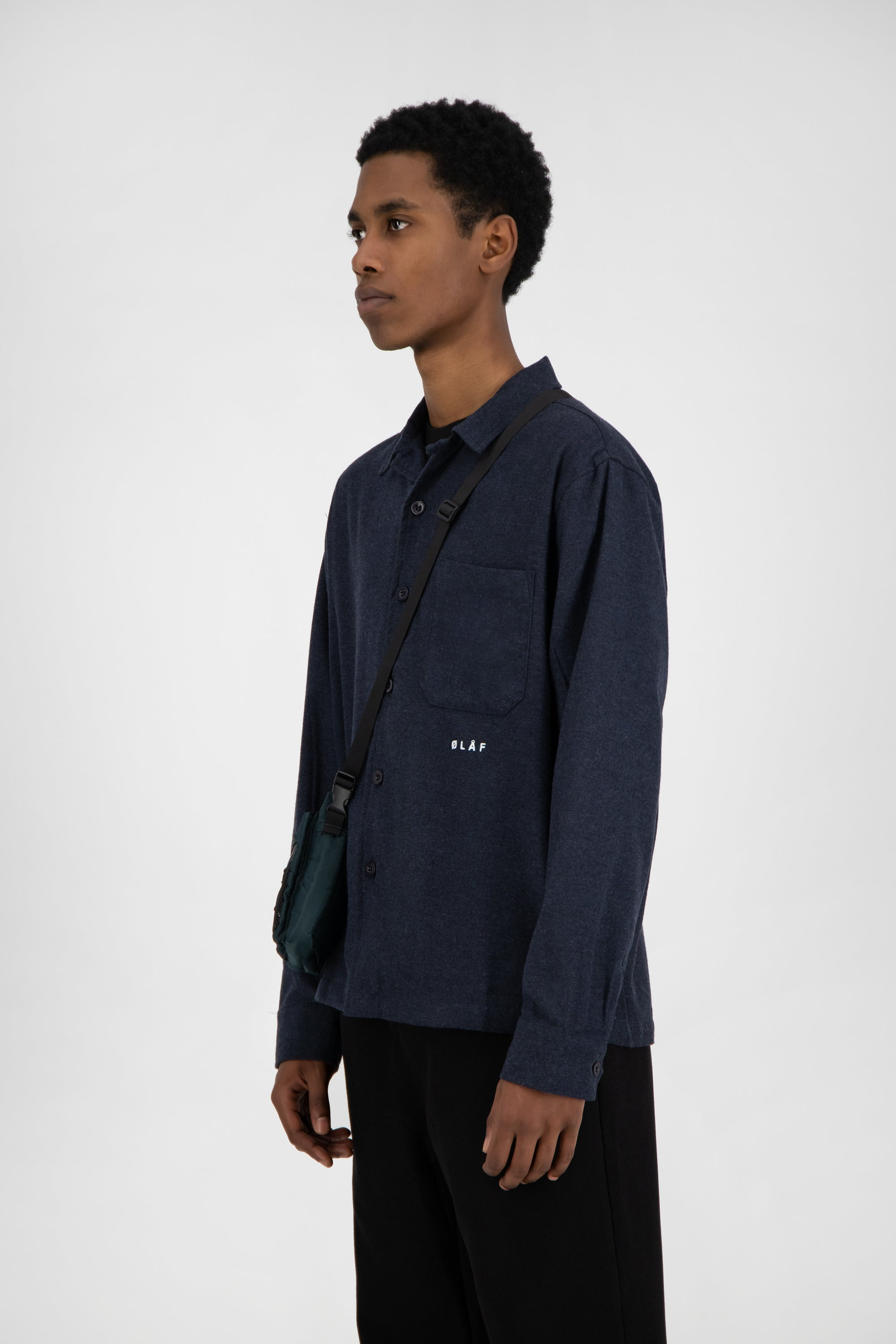 ØLÅF Flannel Shirt <br>Blue