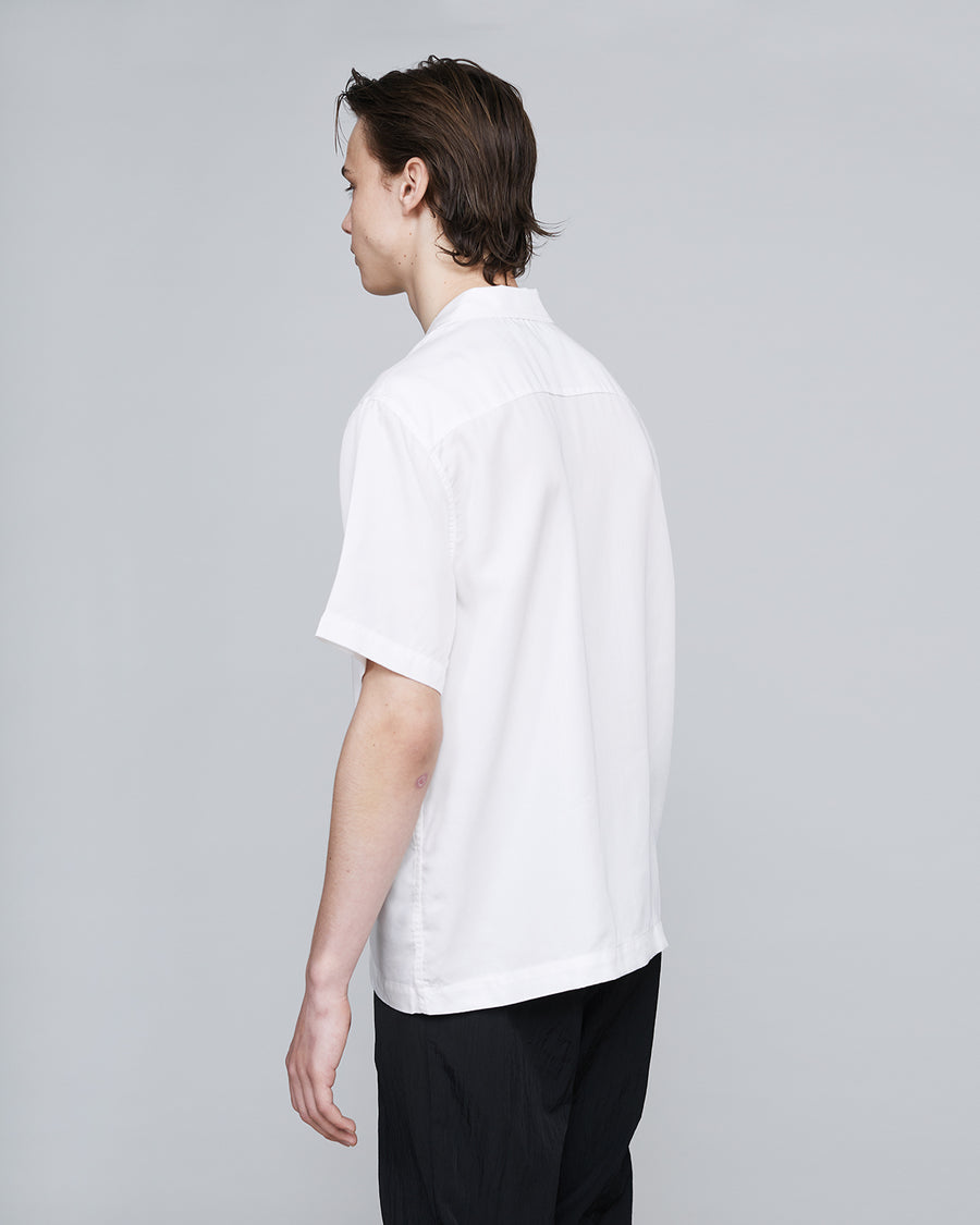 Soft Cotton Short Sleeve Shirt <br>White