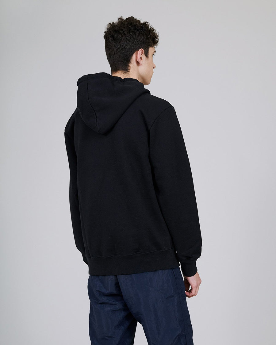 ØLÅF Italic Hoodie Black/Purple, Portuguese fabric, 100% cotton (320 grams/sqm), Logo on the front, Post wash, Front pocket, Made in Portugal