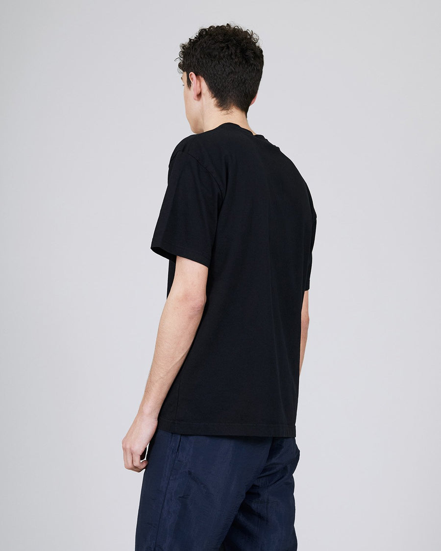 ØLÅF CCC T Black, Portuguese fabric, 100% cotton (220 grams/sqm), Post wash, Fine ribbed collar, Made in Portugal