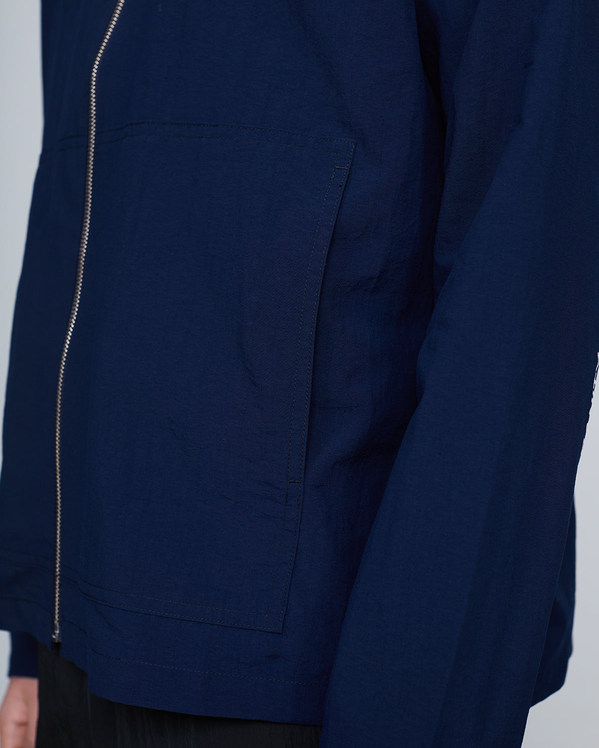 Paper Cotton Zip JKT <br>Blue