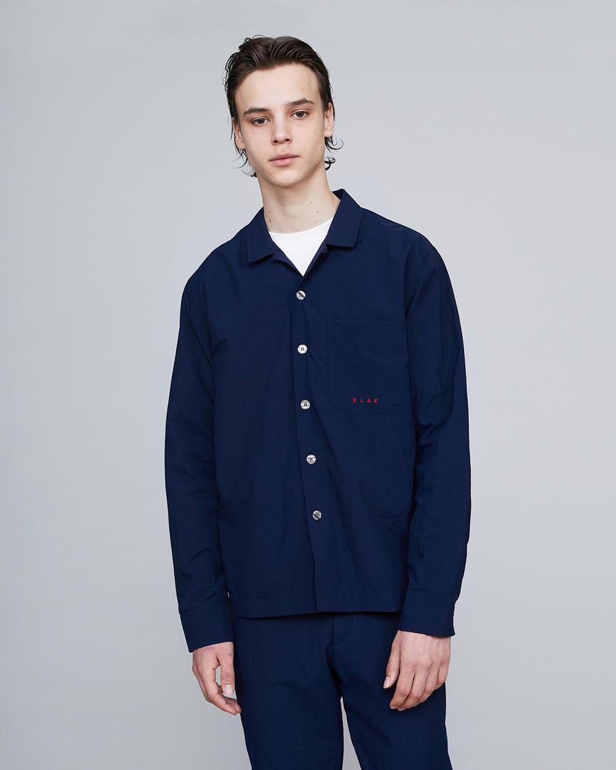 Paper Cotton Overshirt <br>Blue