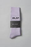 ØLÅF Socks Purple, 75% cotton, 23% polyamide, 2% elastane, Logo on ankle , One size fits all