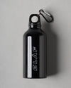 ØLÅF Stainless Steel Water Bottle Black, 350 ml travel size Black stainless steel
