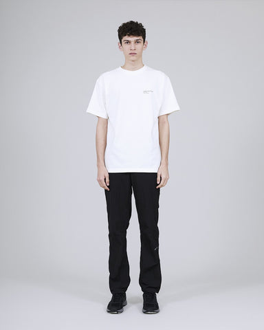 ØLÅF x Halal T - Dawit N.M White , Portuguese fabric, 100% cotton (220 grams/sqm), Post wash, Fine ribbed collar, Made in Portugal