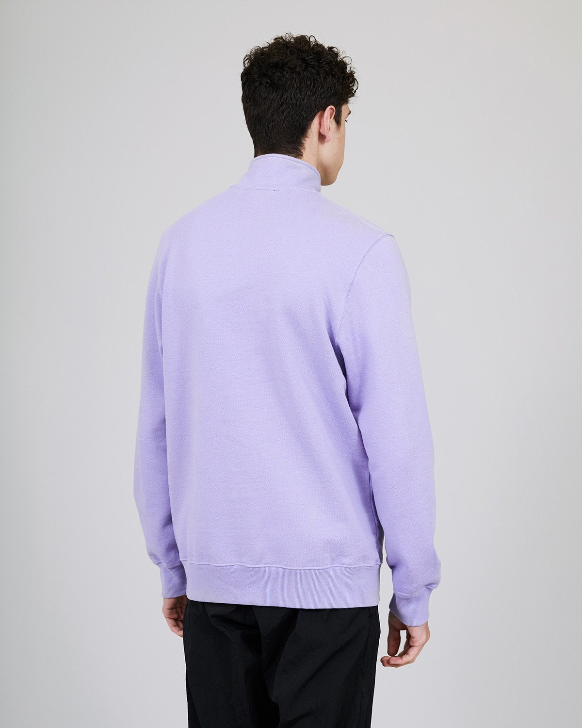 ØLÅF Zip Mock Sweater Purple, Portuguese fabric, Front pocket, 100% Cotton (320 grams/sqm), Logo on the front, New Fleece fabric, Post Wash, Made in Portugal