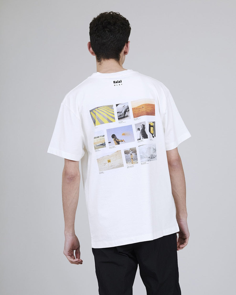 ØLÅF x Halal T - Edition 1 White, Portuguese fabric, 100% cotton (220 grams/sqm), Post wash, Fine ribbed collar, Made in Portugal