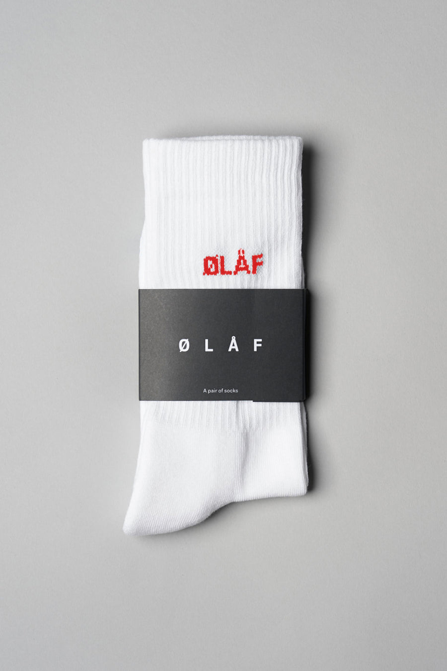 ØLÅF Mini Logo Socks <br>White