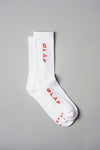 ØLÅF Italic Socks - White / Red
