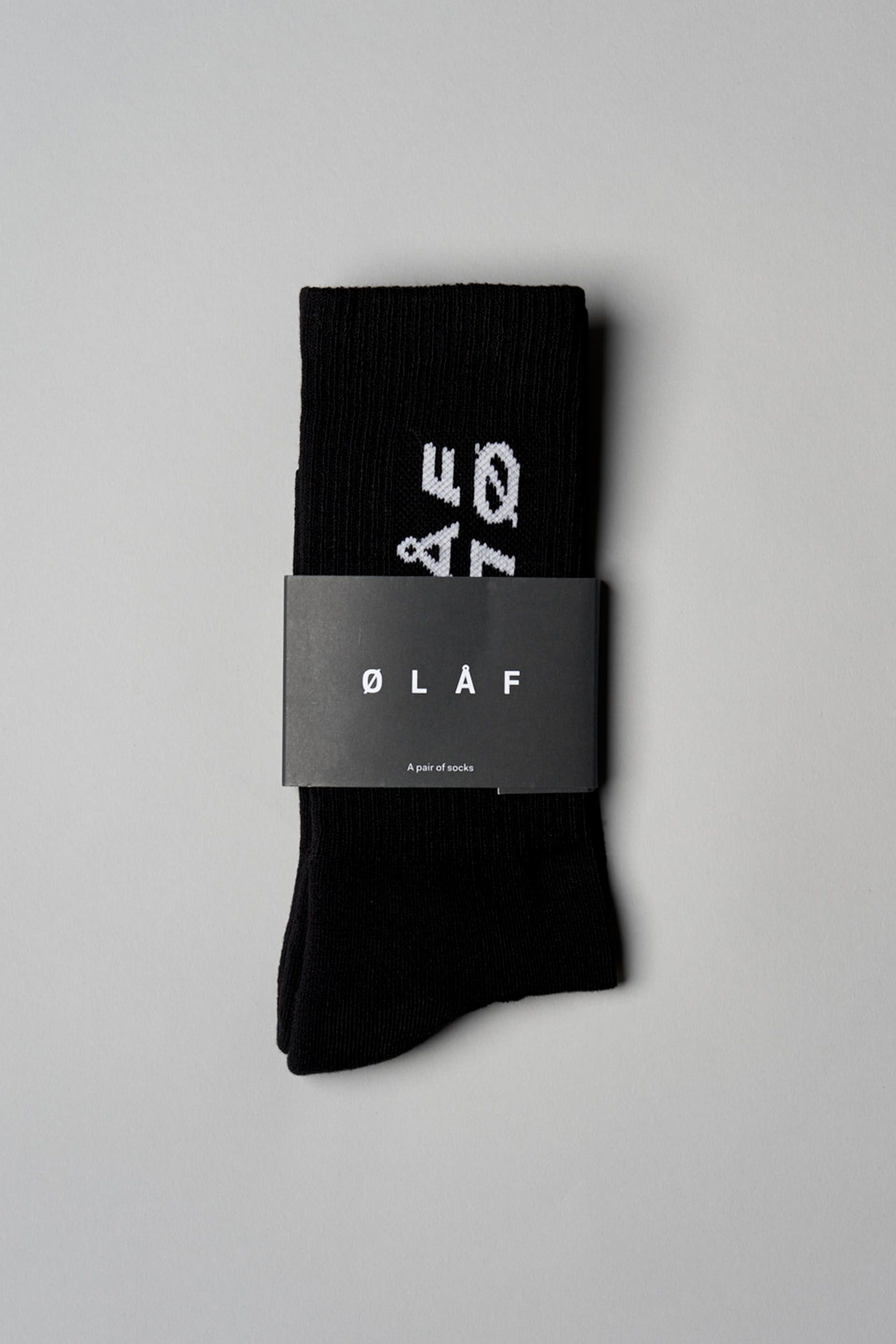ØLÅF Italic Socks <br>Black / Royal Blue
