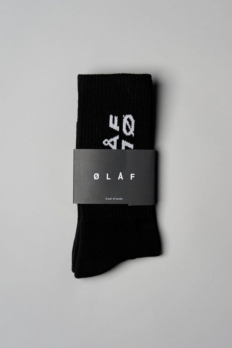 ØLÅF Italic Socks - Black / Royal Blue