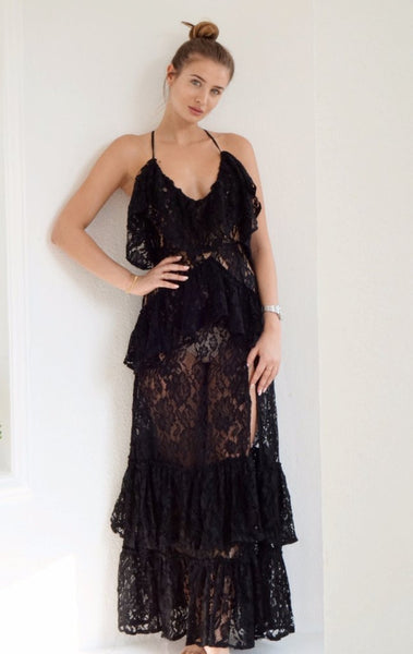 Lace the Truth Dress Black