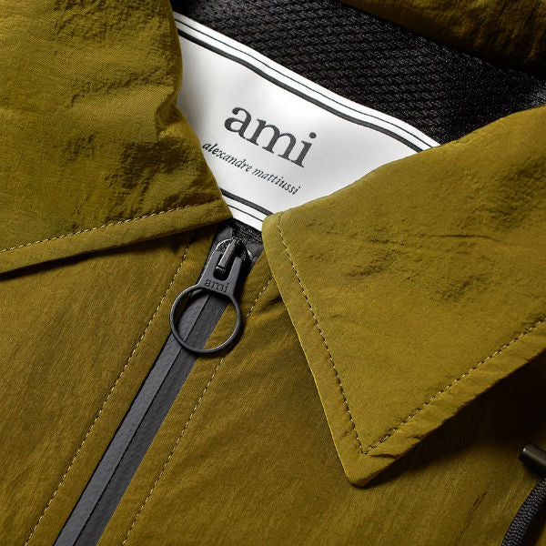 AMI Paris Windbreaker Olive - Townsfolk