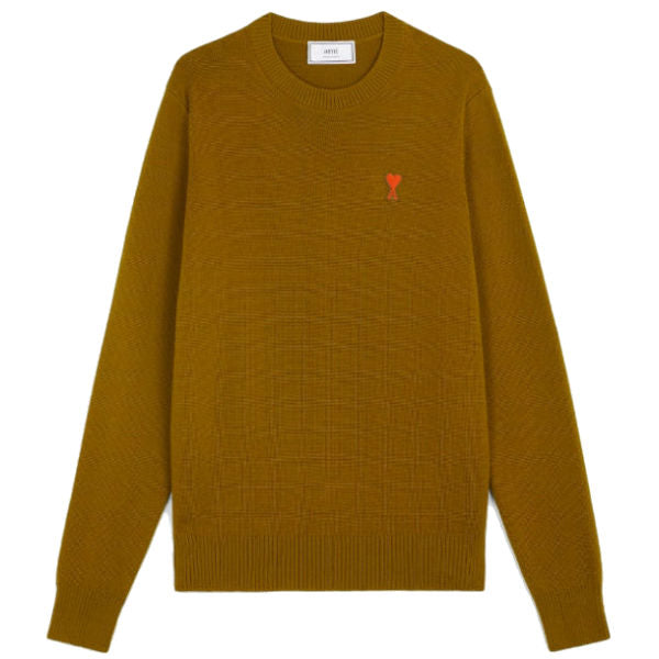 AMI Paris Logo Knitwear Bronze - Townsfolk