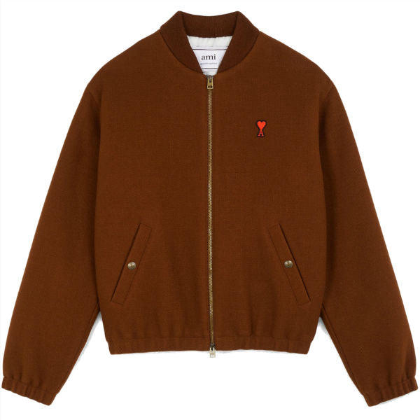 AMI Paris Bomber Jacket Cognac - Townsfolk