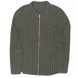 Edward Zip Shirt cotton linen Green - Townsfolk